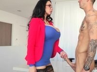 Huge titty casting director gets rammed hard