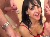 Hot MILF taking multiple cumshots