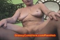 Granny riding young black dick