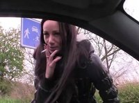Hot Russian mom fucked driver in public