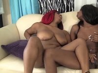 Red head hot black girls playing with each other