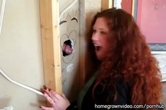 Glorious blowjob of glory holes