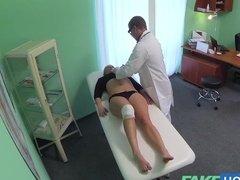 Doctor fucked his blonde patient