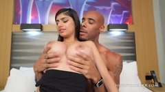 Hot arab girl fucked and sucked bblack cock