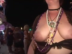 Girls showing boobs in carnival