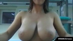 Slut working with with huge tits