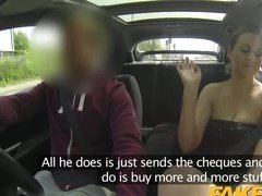 Brunette fucked taxi driver to take revenge