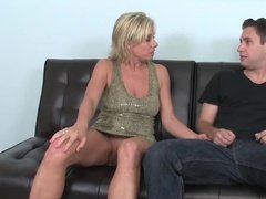 Milf with horny craving fucks son's friend