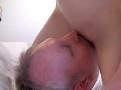 Redhead German girl fucked by a mature man