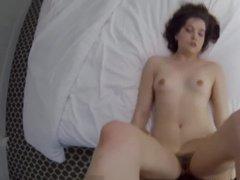 Teen sex slave got fucked in motel room