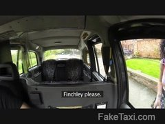 Fake taxi driver fucked the black curly haired girl