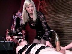 Sexy blonde getting bondage pleasure