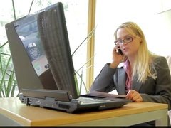 Blonde fucked by her boss in the office