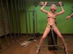 Skinny British chick gets bondage fun