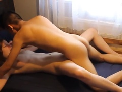 Shy Girlfriend Only Accepts One Position But Lets him Cum Between Her Buns