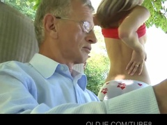 Young Slut Seduces Retired Neighbor