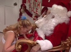 Horny Santa Empties His Full Sack