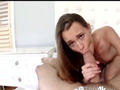 Skinny Slut Worships 9 Inch Cock