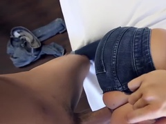 Horny Boyfriend Rips Her Jeans on Ass to Fuck Her