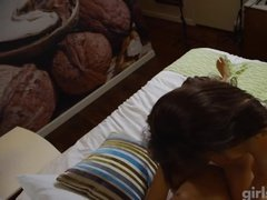 Skinny whore fucked in hotel for money