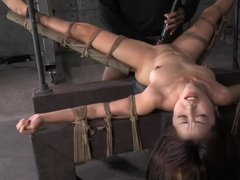 Teen asian beauty tied up and fucked by BBC