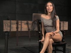 Bondage porn with cute asian woman