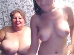 BBW whore does live cam with slut daughter