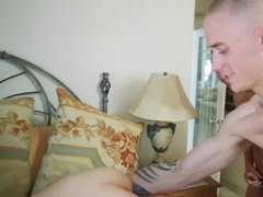 Brunette blindfold fucked hard by twin brothers