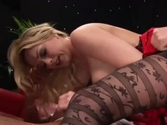 Busty milf enjoying took hard dick in her pussy and ass